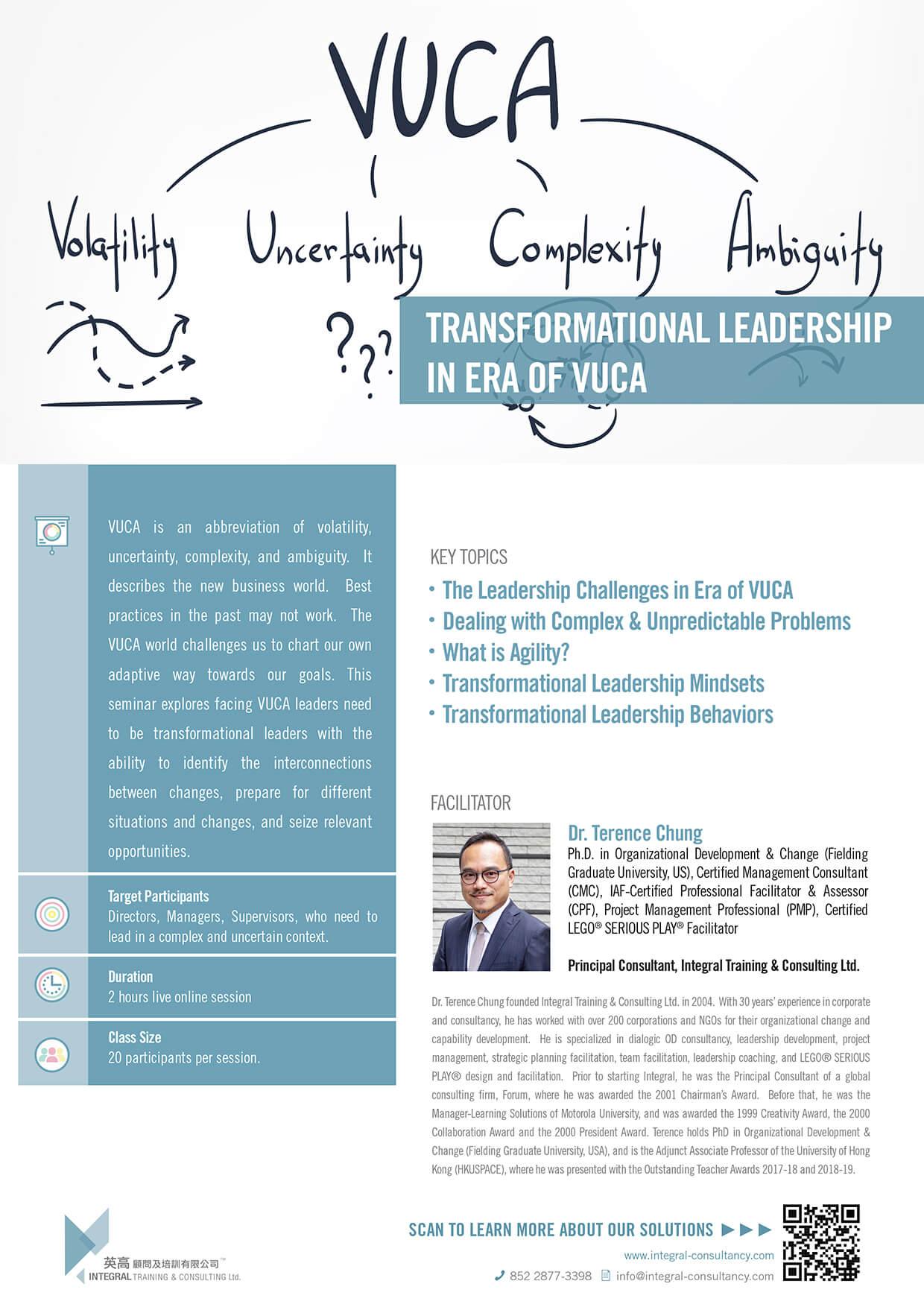 Transformational Leadership in Era of VUCA