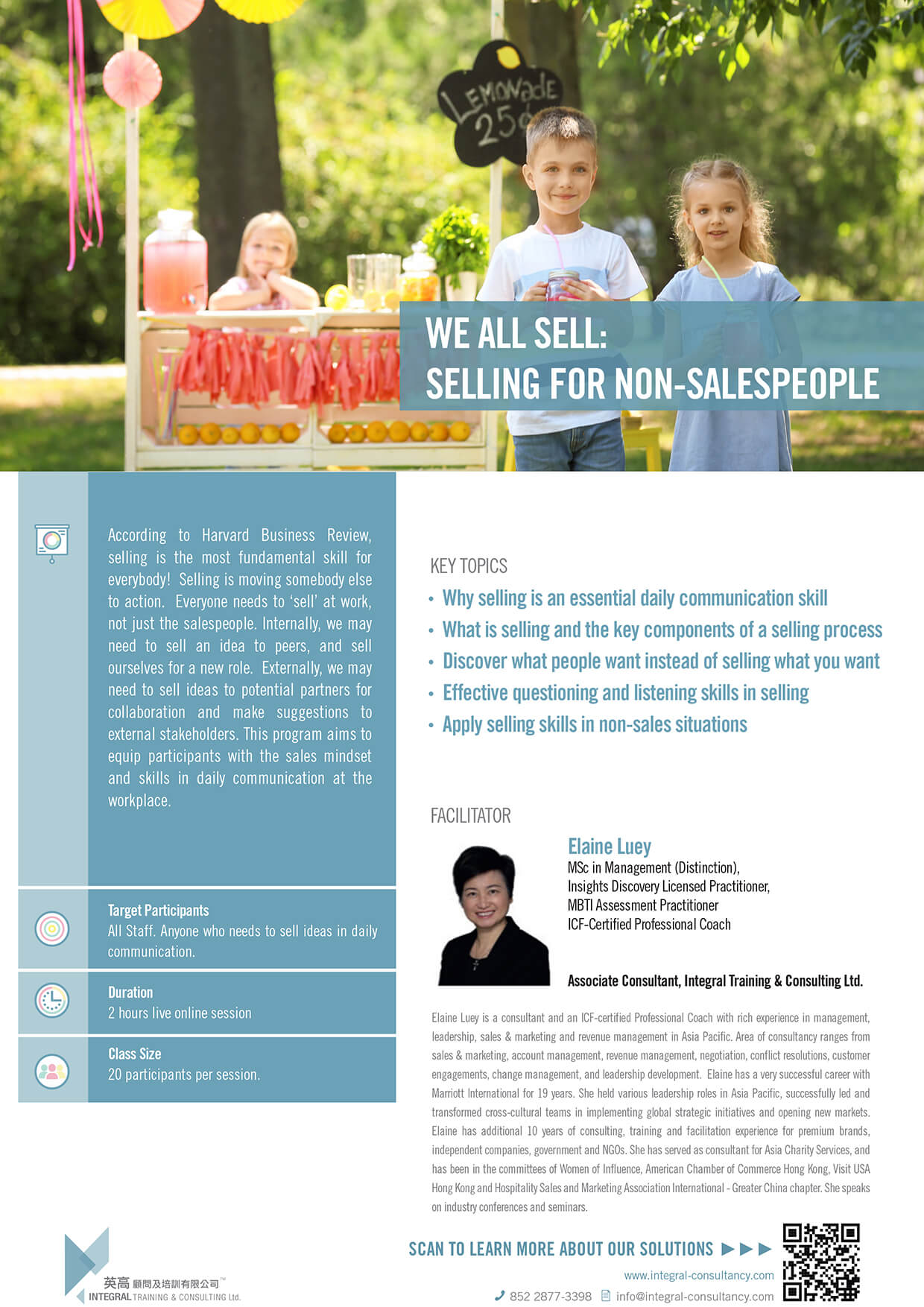 We All Sell: Selling for Non-salespeople